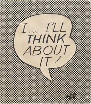 Catalogue Raisonne: Roy Lichtenstein: I... I'll Think About It, 1965