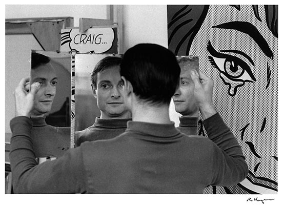 Roy Lichtenstein in his studio at 36 West 26th Street, New York, 1964.