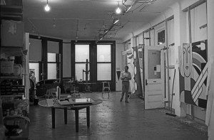 Studio at 190 Bowery, New York, 1967. Photograph by Ugo Mulas © Ugo Mulas Heirs. All rights reserved