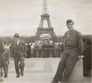 Roy Lichtenstein in Paris, France, ca. 1945. The Roy Lichtenstein Foundation Archives