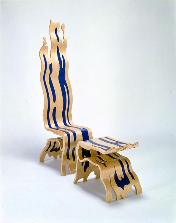 Brushstroke Chair And Ottoman, 1986u201388
