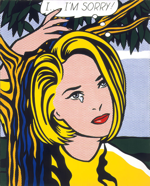 Tate Roy Lichtenstein Pop Art 2014 Square 12x12 Flame Tree